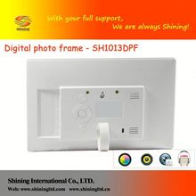 "SH1013DPF 10"" digital picture frame can read u dish and mem"