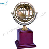 Best Products for Import Wood Handicraft Metal Earth Globe Gifts