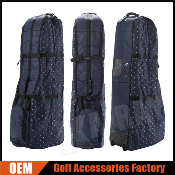 China Wholesale Polyester Golf Travel Bags With Wheels