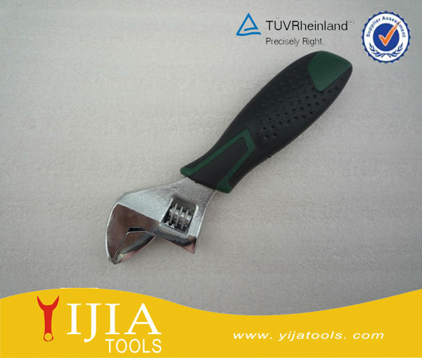 Mini short handle durable adjustable wrench