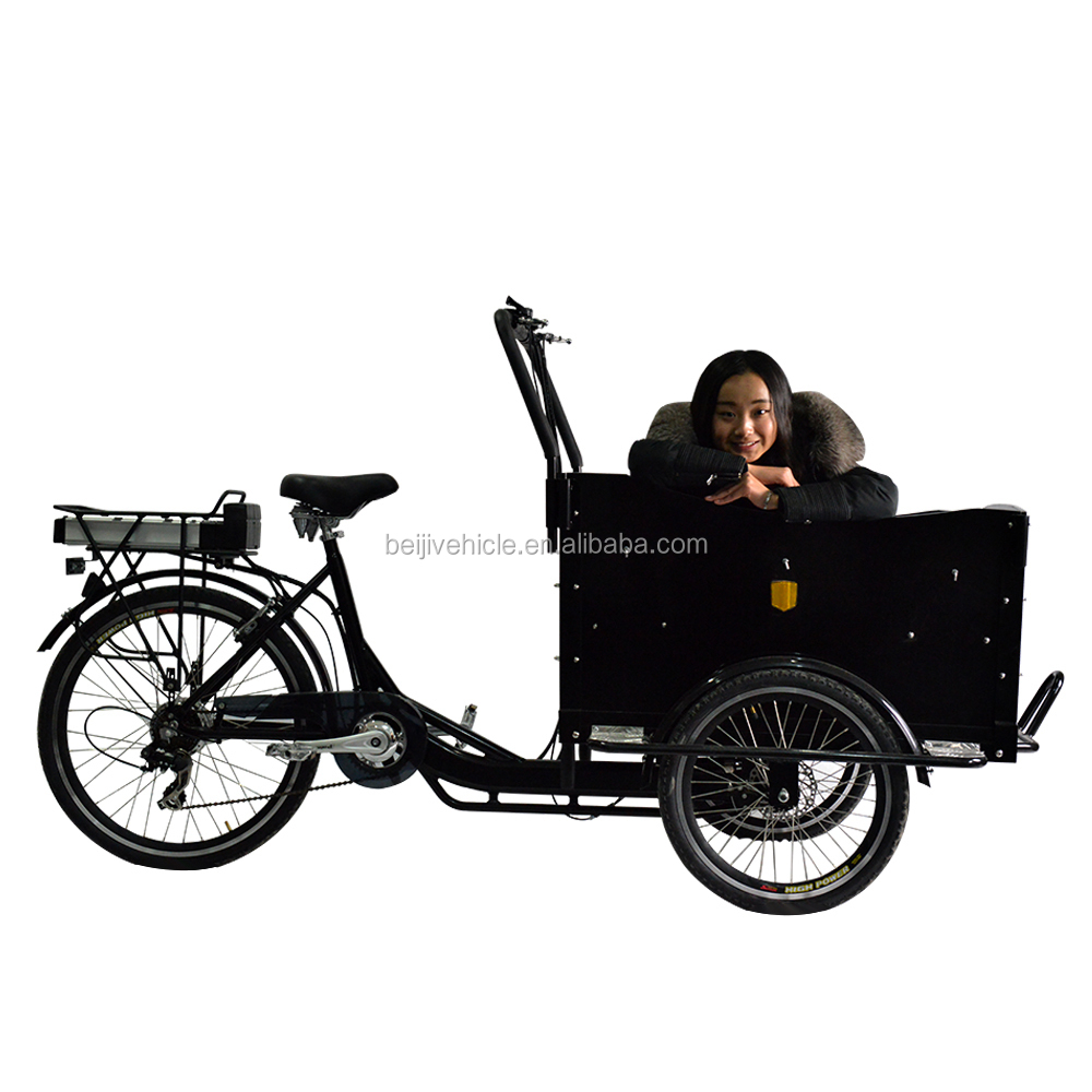 Dutch bike cargo use family front loading cargo tricycle