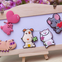 2016 Cute animal Shape Fashion Custom Soft PVC Fridge Magnet