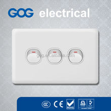 Australian wall switches,3 gang 1 way wall switch,electric switch