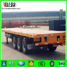 40ft 3 axle Flatbed Container Truck Trailer semi trailer air bag suspension