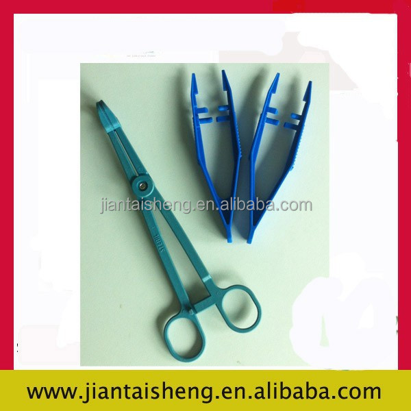 Clean and environmental protection disposable medical plastic tweezer