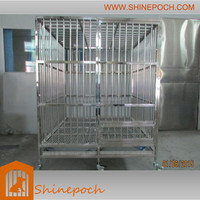 customizable square stainless steel big dog cage SED1-002B