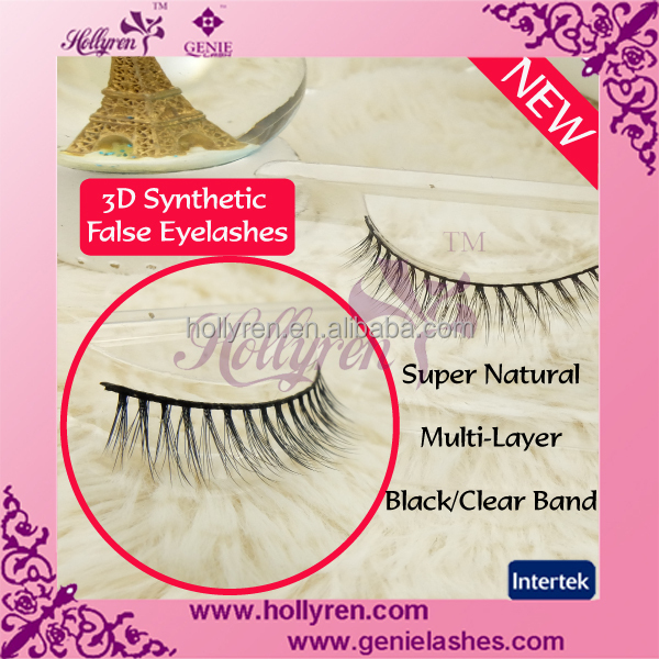 Super Soft and Natural Band 3D Synthetic False Eyelashes