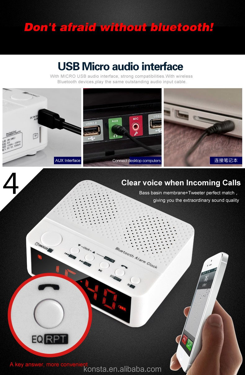 portable TF port/fm radio bluetooth speaker with Mic Portable Wireless mini speaker TF card music Mp3 player