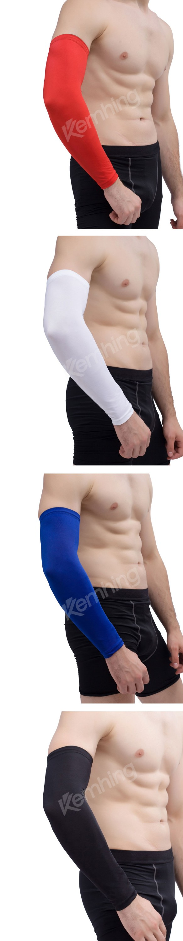 Custom compression sleeve Sports Black Arm Sleeves Cycling Basketball UV protector arm sleeve compression