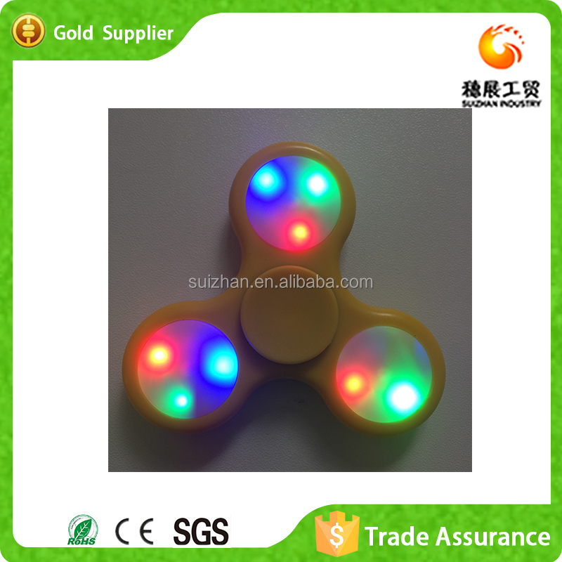 Factory Supply custom Luminous finger tip gyro toy Souptoys crazy spinner toy Hand Spinner