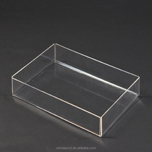 Wholesale Custom Made Black Acrylic Serving Tray for Families