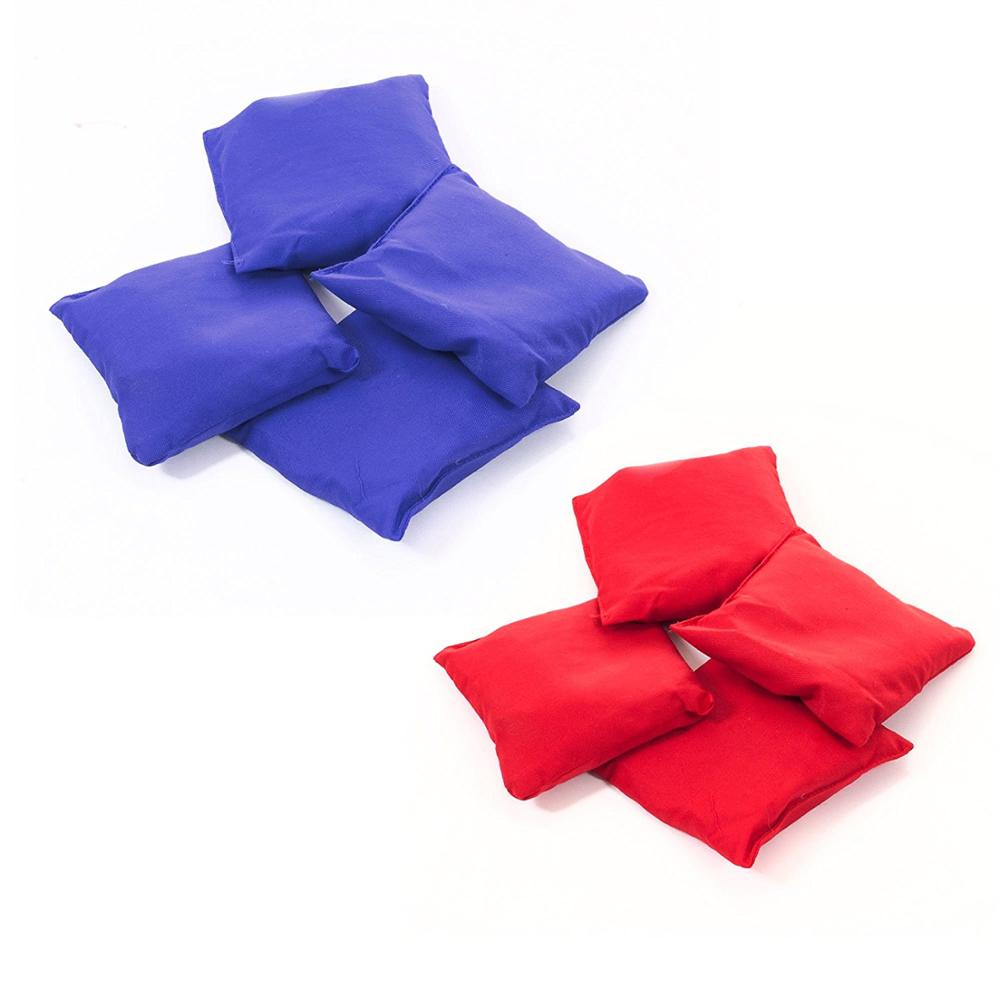Cornhole Toss Game Set with Hunter Blue and Red Bags