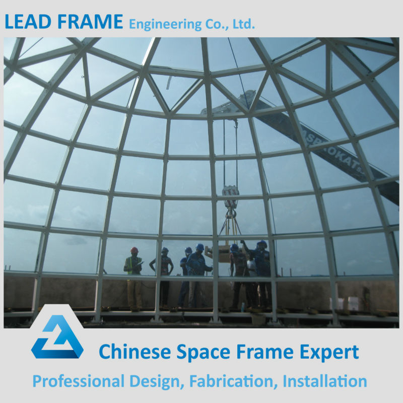 Anti Corrosive Paint Steel Structure Glass Dome Roof Skylight With CE&CCC