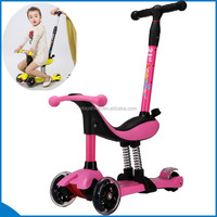 Children Kick mini scooter new 3 Wheel 4 in 1 Scooter for sale