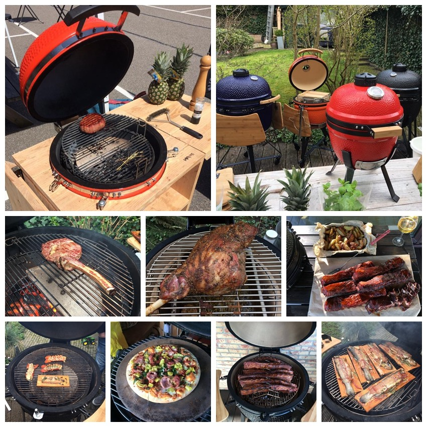 Top Rated China Goedkope 25 inch Barbecue Kamado Houtskool Keramische Grill