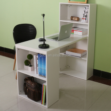 Home furniture bookcase with study table/ bookshelf wooden computer desk
