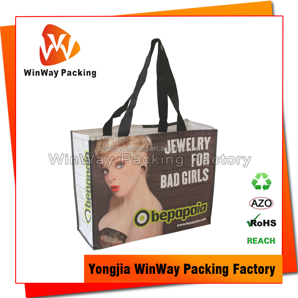 Sex Girl Pictures Printing Non Woven Shopping Bag