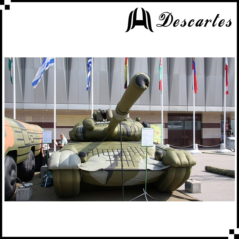 Custom made inflatable military decoys defend, giant inflatable replica army tank for advertising