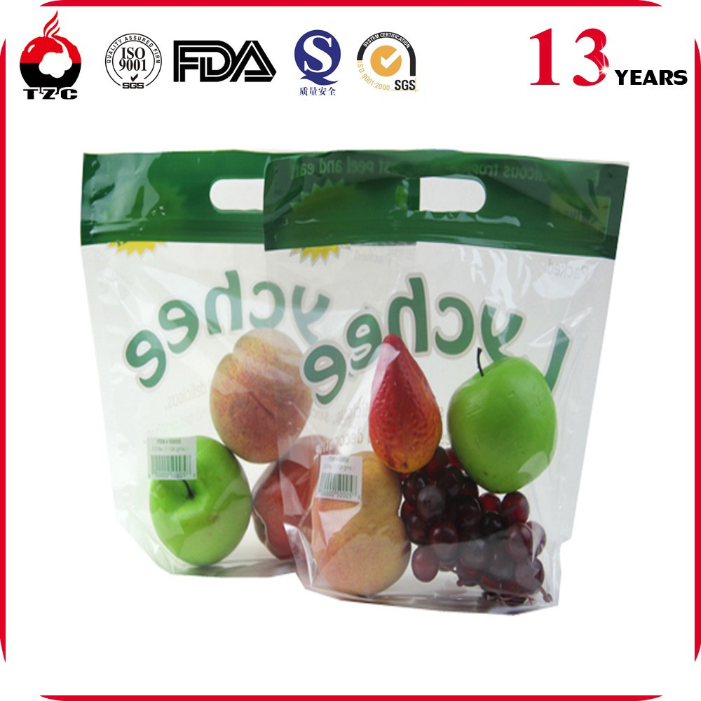 Various Styles Fresh Fruits Ziplock Bag with Handle