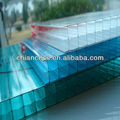 3 wall plastic building material polycarbonate sun sheets/pc hollow sheets