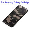 Factory directly Camouflage leather protective case for Samsung s6 edge mobile accessory