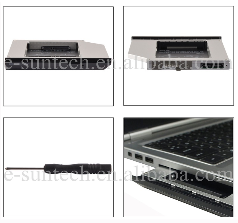 High quality Enclosure Aluninum Bracket hdd Case For HP