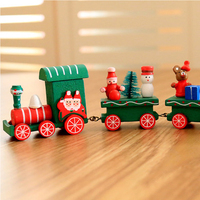 2017 christmas decoration Wood train set for Kids gift Toy Home christmas decorating ornament