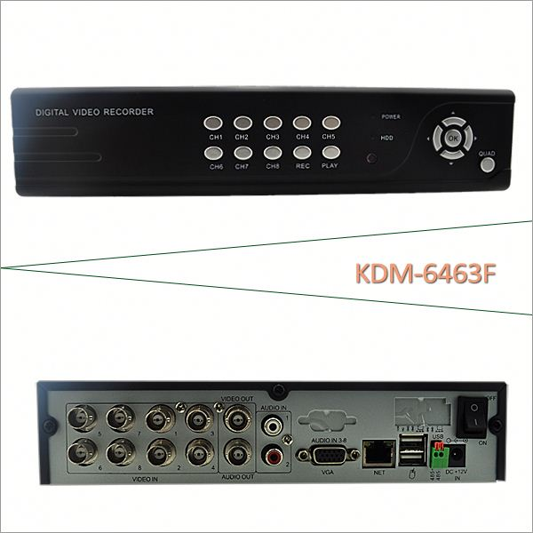 Most economic H.264 8Chs CIF Realtime CCTV DVR,dvr net software