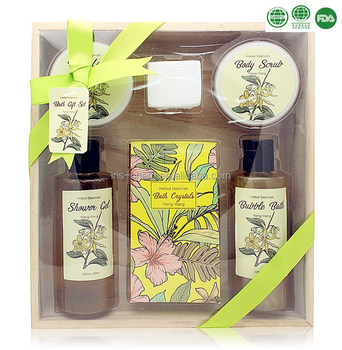 Hot selling personal care gift box sets herbal extract shower gel bubble body lotion bath bombs