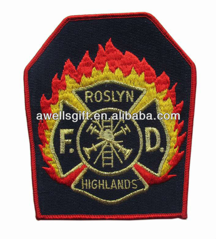 Custom Fire Department embroidery badge