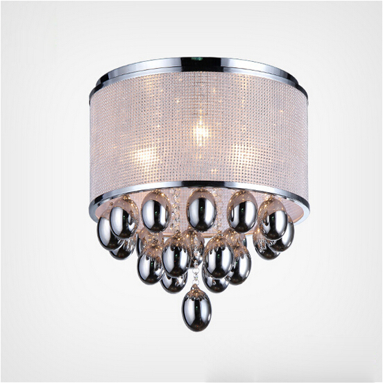 Cylinder Crystal Like Grape Shape Modern Metal Home Ceiling Lights