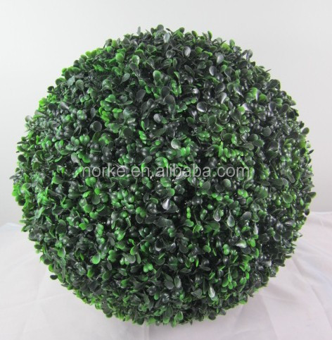 38CM Hot Decorative Artificial Topiary Grass Ball Boxwood Buxus Ball
