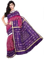 Kala Sanskruti Pure Silk Saree In Pink & Purple Color