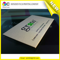 Letterpress printed paper plastic business cards