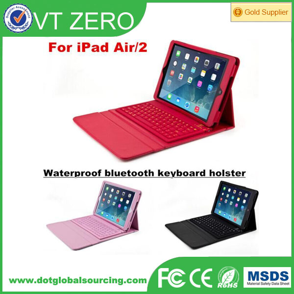 F76 Silicone Wireless Bluetooth Keyboard For iPad Air 2