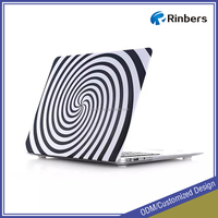 Best present to friend black white puzzle/circle/zerba pattern hard cover case for Macbook Air Pro Retina