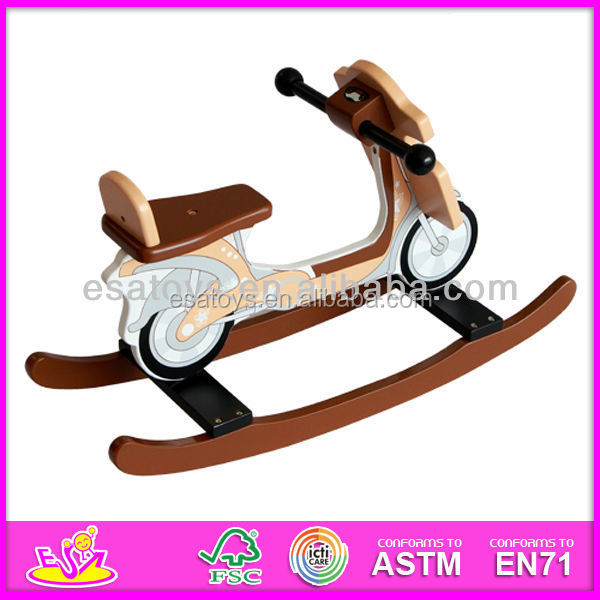 2015 Hot sale high quality wooden rocking horse,new and popular toy rocking horse, fashion style rocking horse set W16D013