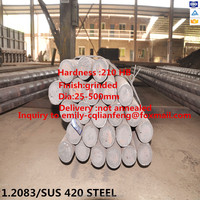 4Cr13 /1.2083 steel round bar in tool and light