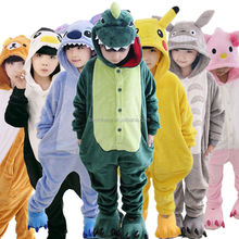 Hot sale kids Pajamas Unisex Cosplay Animal Costume Onesie sleepwear