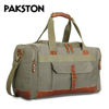 Vintage design canvas travel bag with leather trim Good quality duffle bag