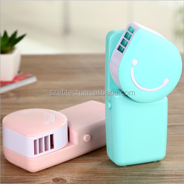 shenzhen Original Cooler Mini Portable Table Electrical USB Fan Hand Held USB and Battery Rechargeable Air Condion fan