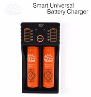New Product Kdest Original K5-BC1 1A/0.5A 2 Slots Dual USB LED Screen 18650 Rechargeable Li-ion Battery Charger For 2016