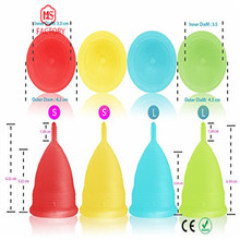 2017 FDA Approved Reusable Medical Lady Period Use folding menstrual cup Silicone Menstruing cup Reusable Lady Cup