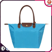 Custom nylon tote bag folding handbag tote bag reusable shopping bag