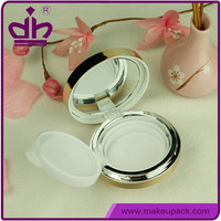 Plastic empty cosmetic container BB cushion compact mirror case
