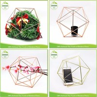 Geometric Wire Air Plant holder Party Wedding table centerpiece wall tree ornament Christmas geometric hanging leaves decoration