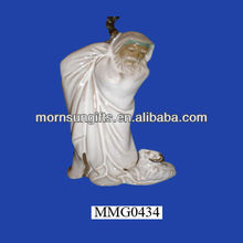 Chinese glazed ceramic clay figurine