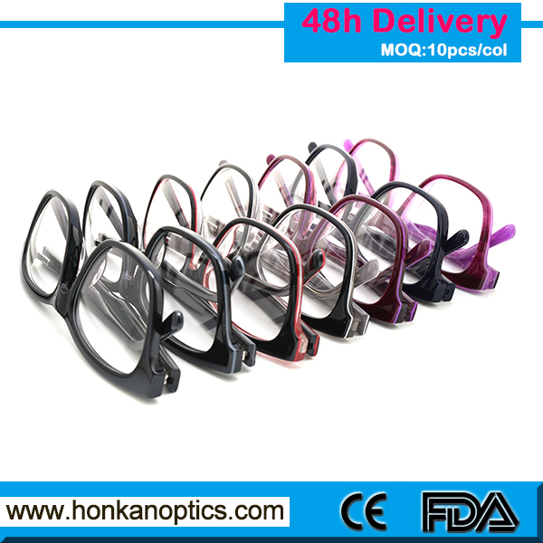 A variety of colors to choose good price wholesale acetate eyewear glasses frame HKC150128
