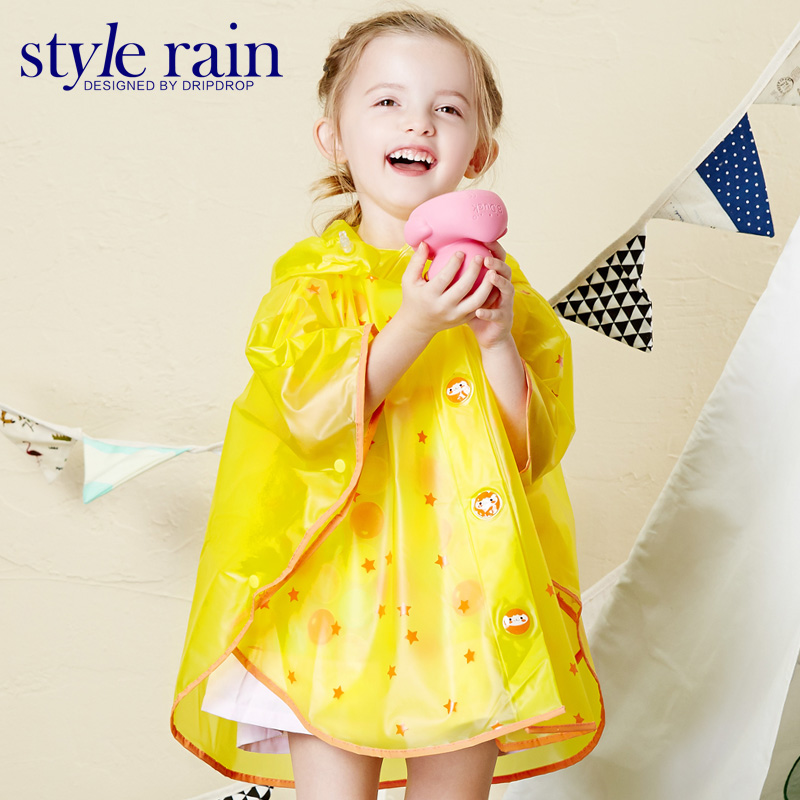 Clear Plastic Rain coat match kids rain boots for children rain suit