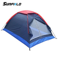 Outdoor 2 Person Dark Blue Waterproof Durable Inflatable Camping Tents Wholesale